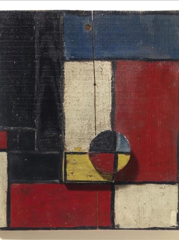 Planos de color con dos maderas superpuestas (1928), deJoaquín Torres-García, pieza de la colección del Macba.