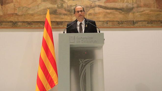 El president de la Generalitat, Quim Torra, pide la dimisión del presidente del CGPJ.