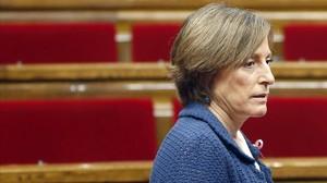 La presidenta del Parlament, Carme Forcadell, en el hemiciclo.