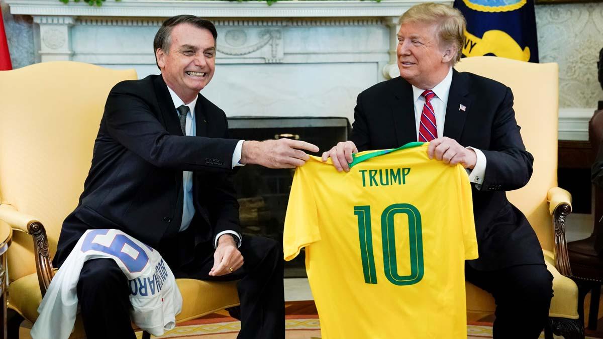 Primer encuentro entre Trump y Bolsonaro.