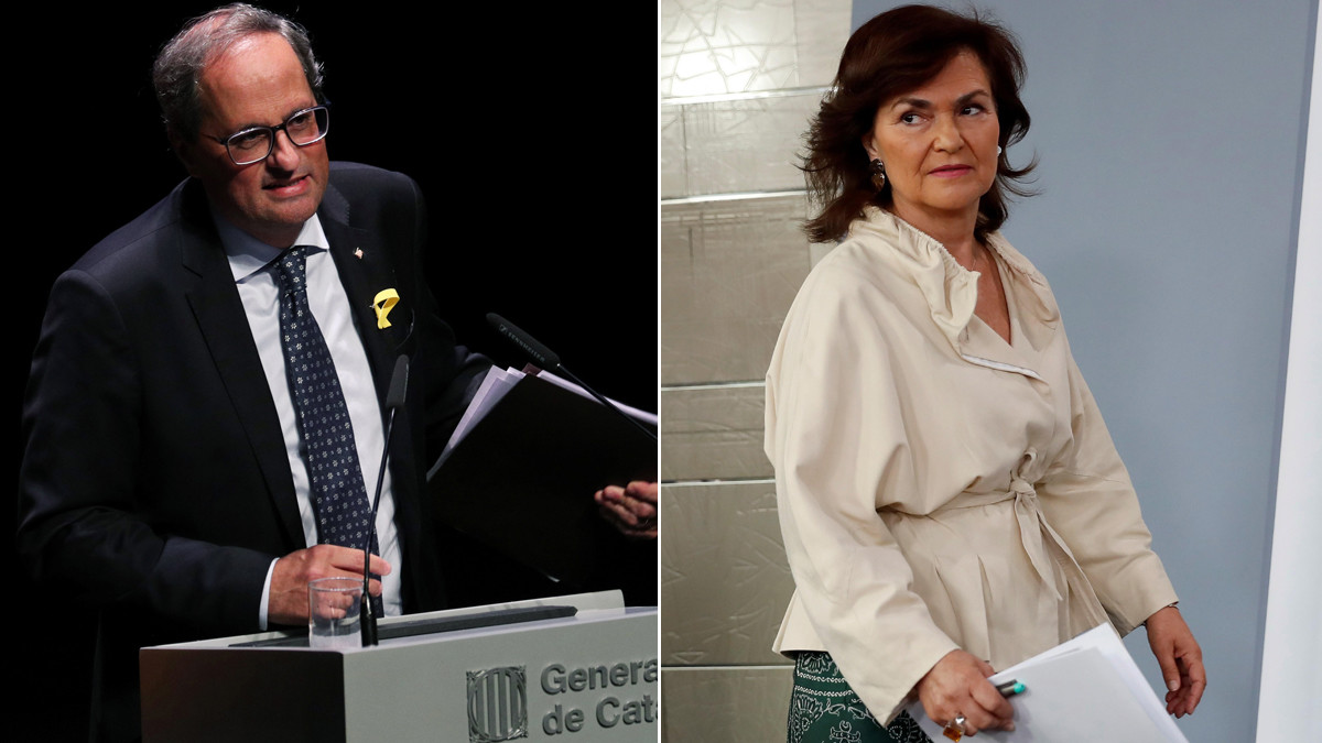 Quim Torra y Carmen Calvo.