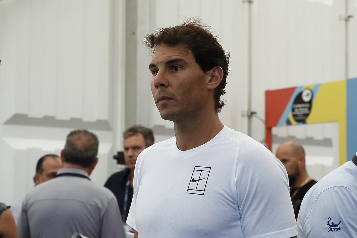 Rafael Nadal, tras la conferencia de prensa ofrecida en Acapulco.