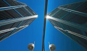 Sede de Bankia, situada en las torres Kio de Madrid.