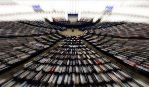 Sesión en el Parlamento Europeo.