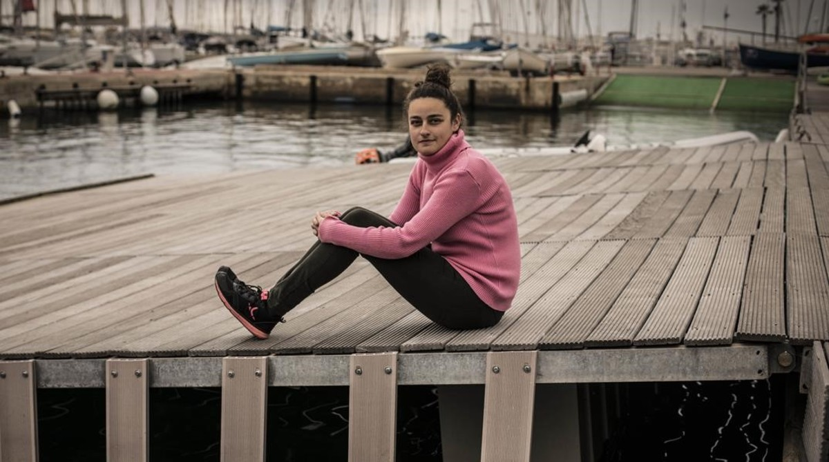 Elena, una chica que tiene sinestesis, en Sant Andreu de Llavaneres.