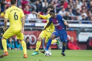 SOBRESALIENTE Dembélé hizo ayer el mejor partido con el Barça.