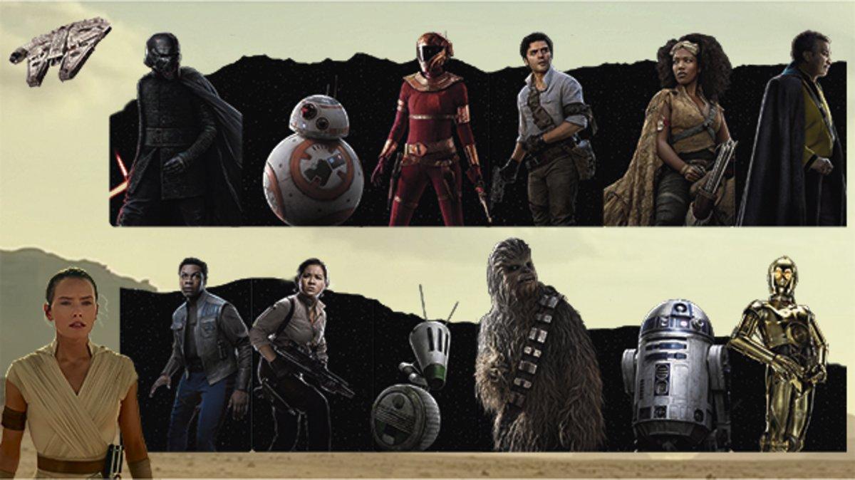 Guía de los personajes de 'Star wars: El ascenso de Skywalker'