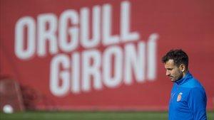 Stuani, en las instalaciones del Girona.