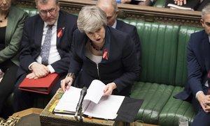 Theresa May, en la Cámara de los Comunes.