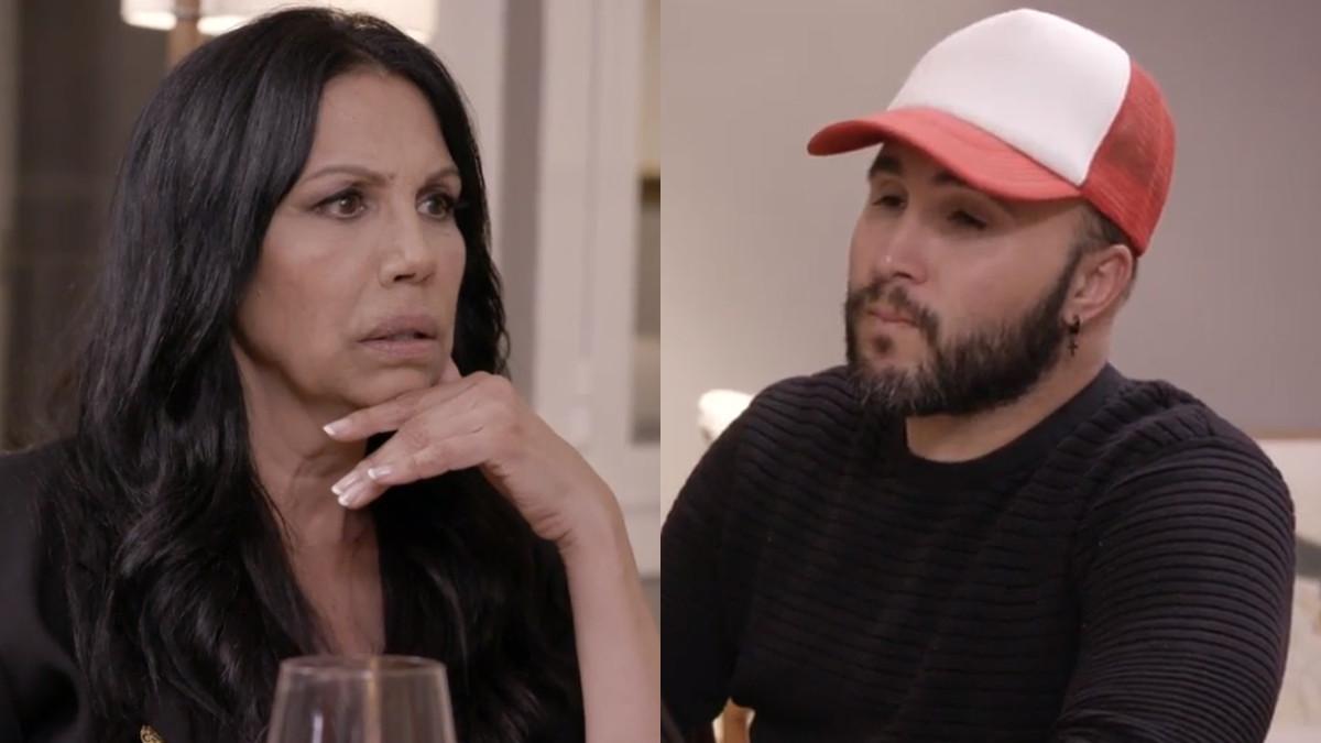 Toñi Salazar y Kiko Rivera en Ven a cenar conmigo: Gourmet edition.