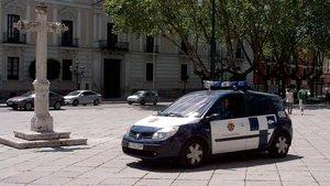 Una patrulla de policía municipal de Valladolid.