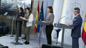Rueda de prensa en Moncloa de los portavoces del Comité Técnico de seguimiento de la epidemia.