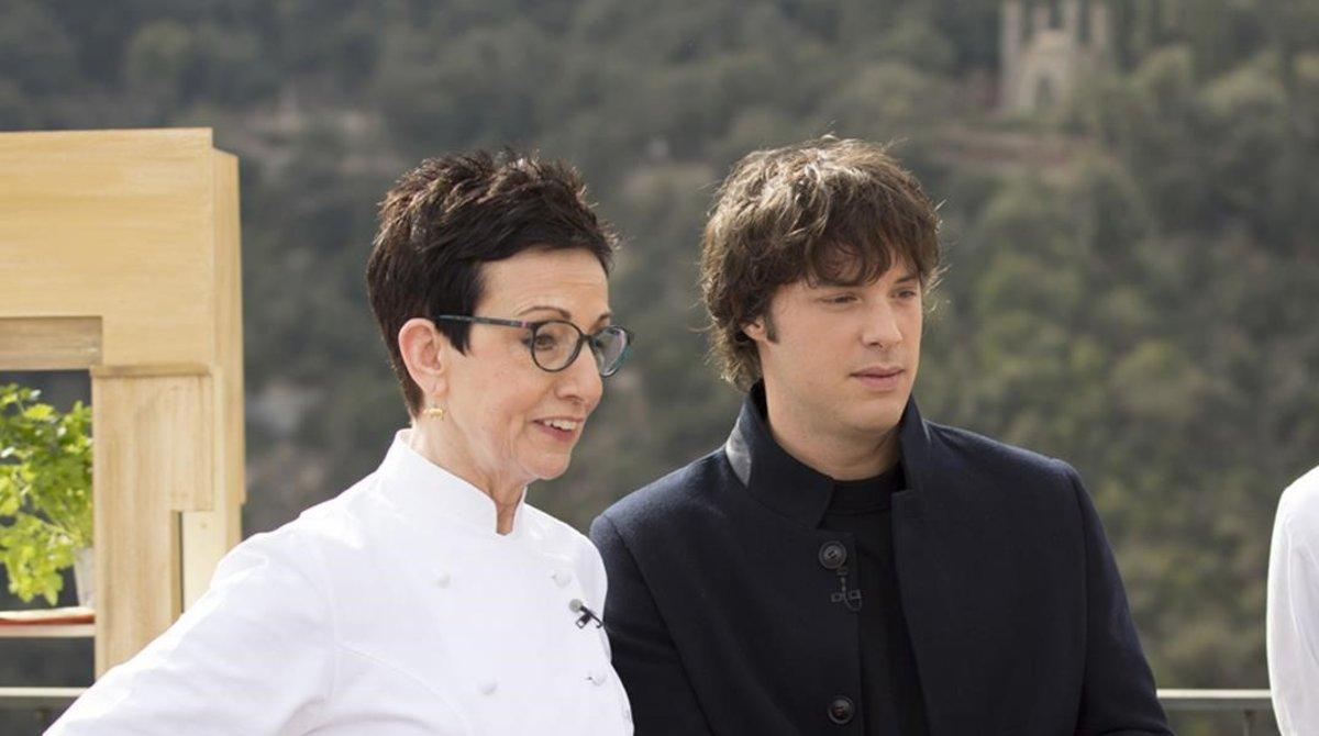 Carme Ruscalleda y Jordi Cruz, dos de los cocineros que participaran en el certamen.