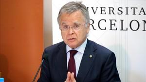 El rector de la UB no descarta una aturada d'universitats en vista de la «crítica situació econòmica»