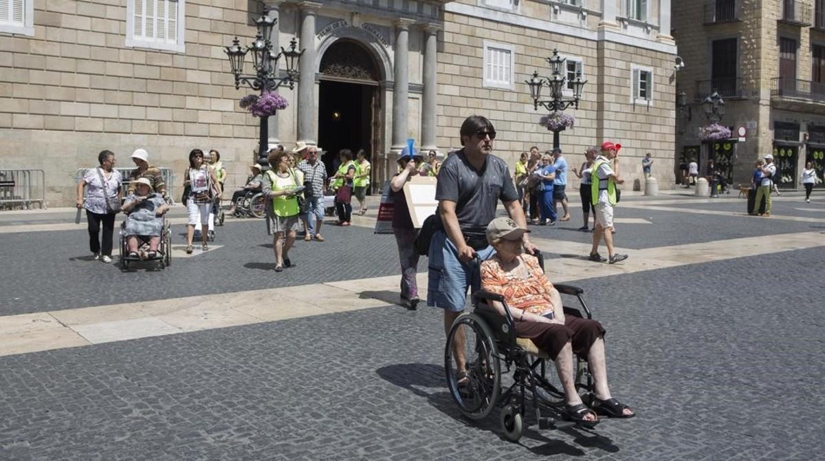 Manifestación de ancianos.