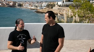 El director S. Craig Zahler y el actor Vince Vaughn, en Sitges.