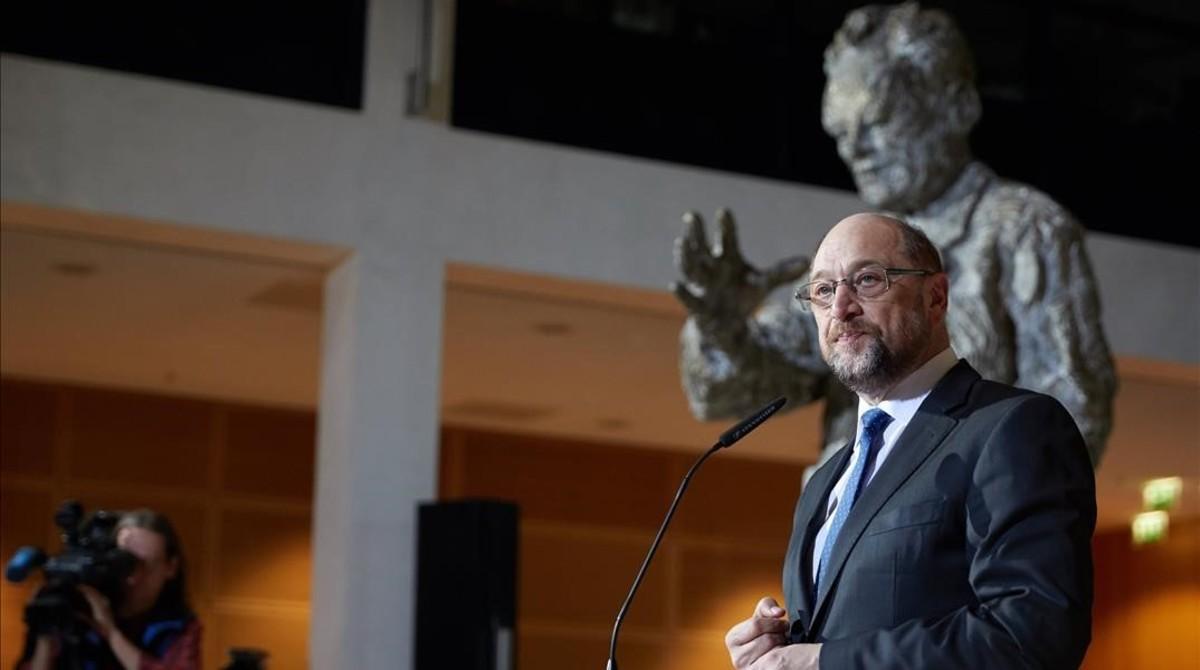 Rueda de prensa de Martin Schulz.