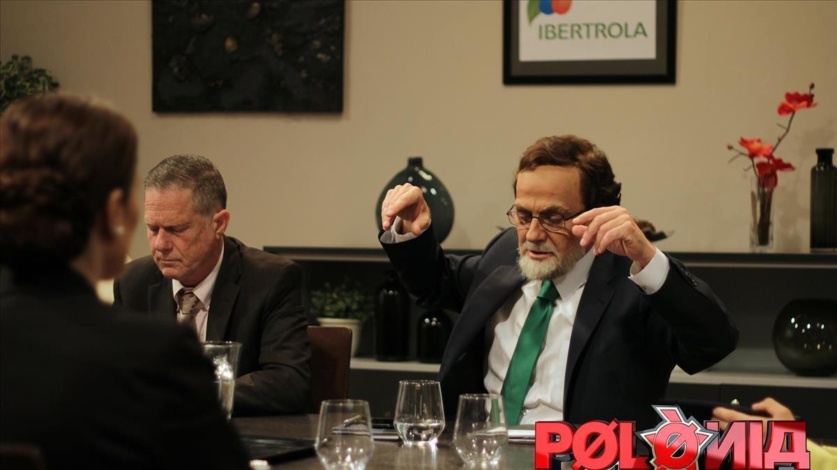 El Mariano Rajoy polaco (el actor Queco Novell), en la serie de humor de TV-3 Polònia.