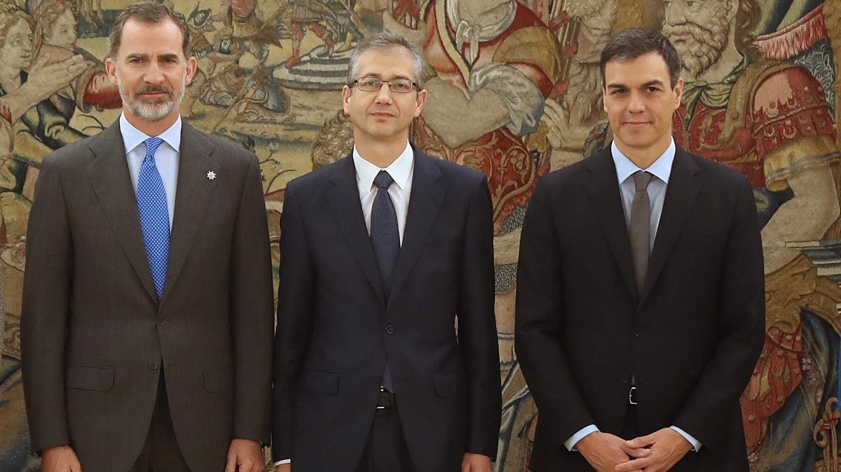 Hernández de Cos ha jurado hoy su cargo de gobernador del Banco de España ante el Rey.