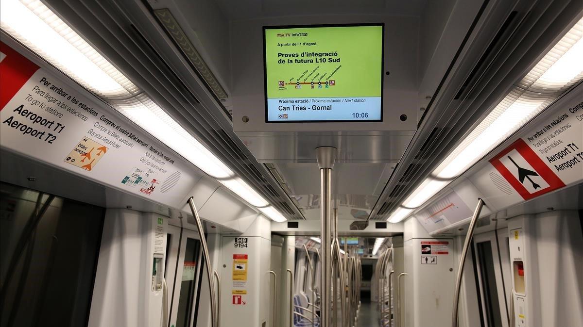 Imagen de archivo de un tren de la L10