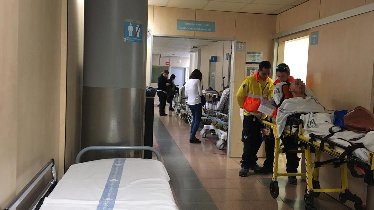 Las urgencias del Hospital Vall d'Hebron este jueves.