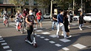 Una calle de Barcelona el pasado 23 de junio.