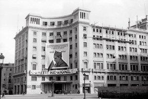 La casa CNT-FAI de Barcelona, en 1938.