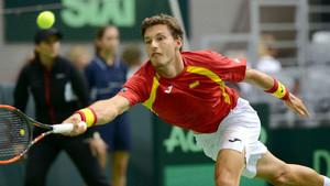 Pablo Carreño, en un partido de Copa Davis.