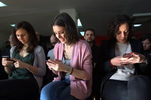 Irene Montero (centro), durante la reunión del Consejo Ciudadano Estatal de Podemos.