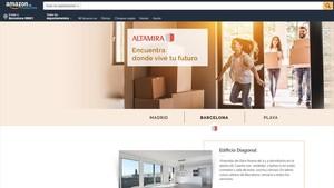 Altamira vende viviendas a través de Amazon.