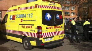 Una ambulancia del servicio de Emergencias de la Comunidad de Madrid, en una imagen de archivo.