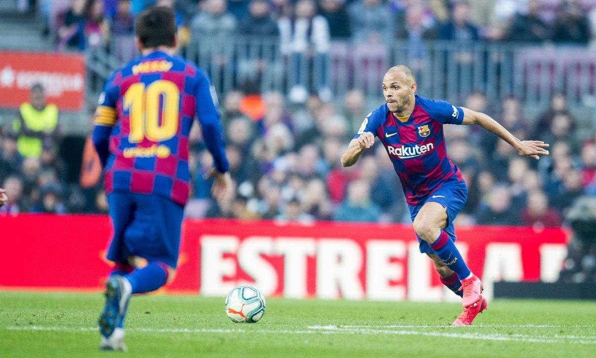 Imagen de un partido del Barça.