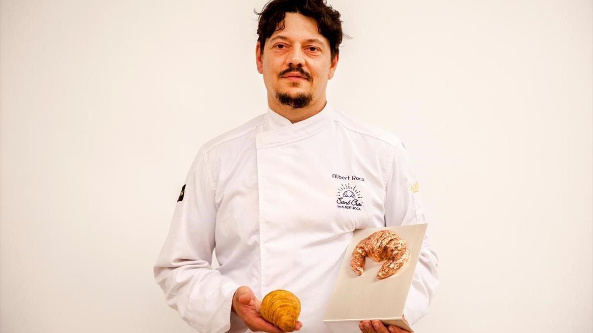 Albert Roca, ganador del mejor cruasánartesano de mantequilla de España 2018.