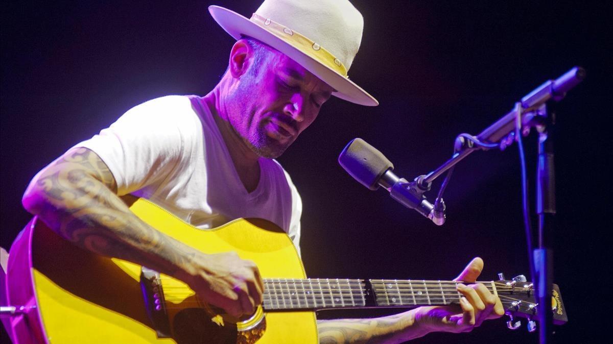 Ben Harper, en el concierto que ofreció el lunes en el Festival de Cap Roig