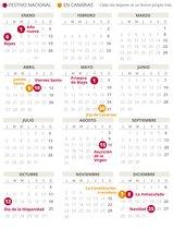 Calendario laboral de Canarias del 2020