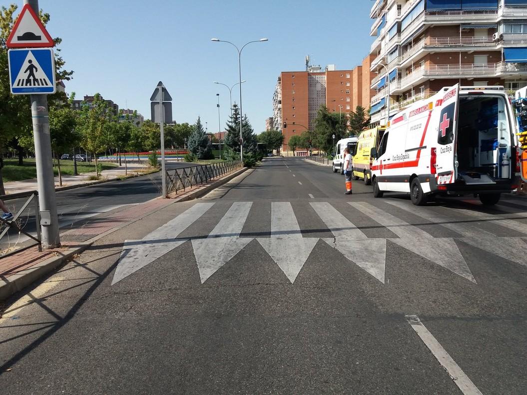 Otro atropello tuvo lugar en la avenida Alcalde José Aranda de Alcorcón.