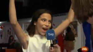La eufórica celebración de Melani tras quedar tercera en Eurovisión Junior que se ha hecho viral
