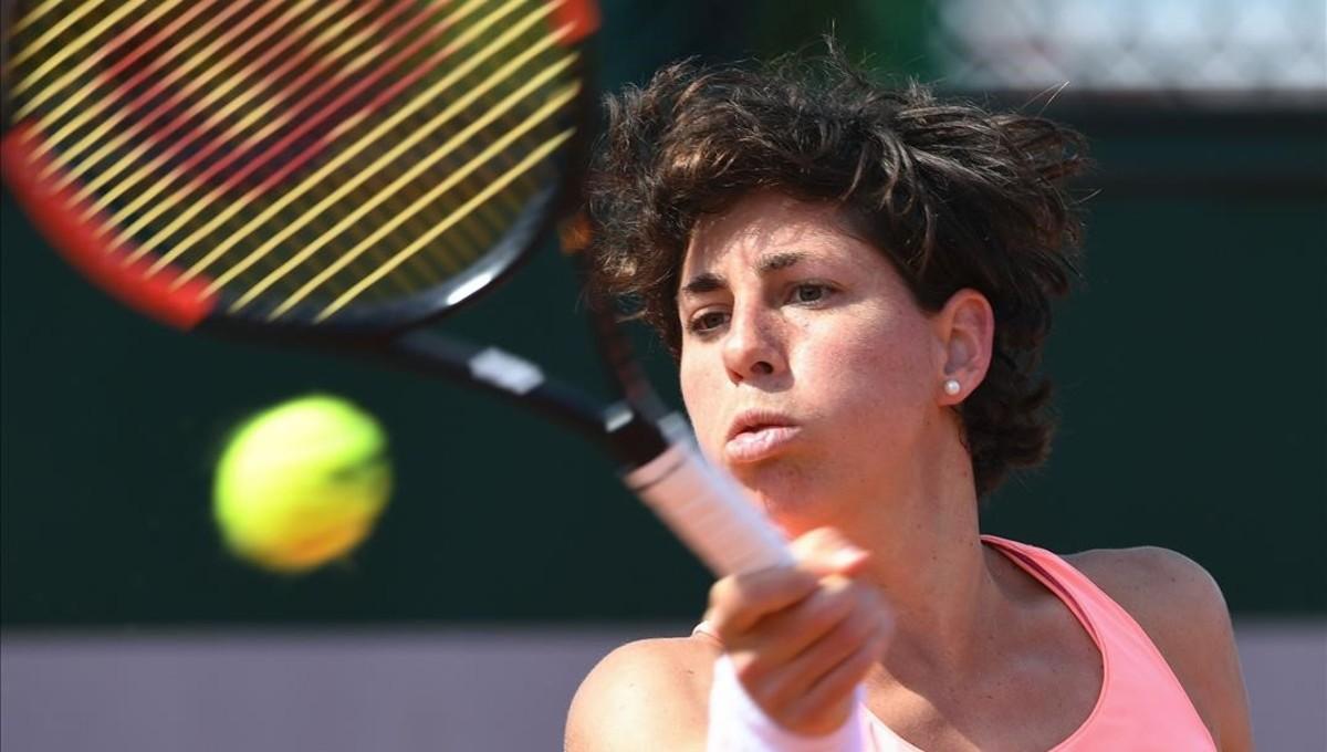 Carla Suárez, en su debut en París.
