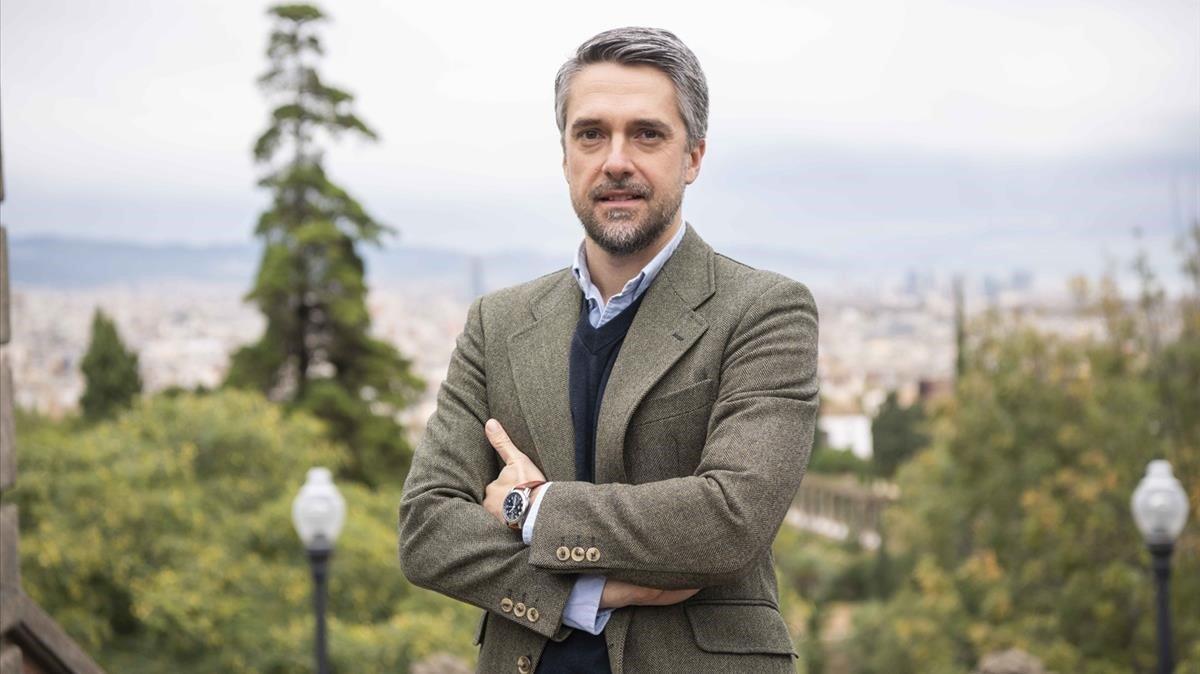 El periodista Carlos Franganillo, en Barcelona.