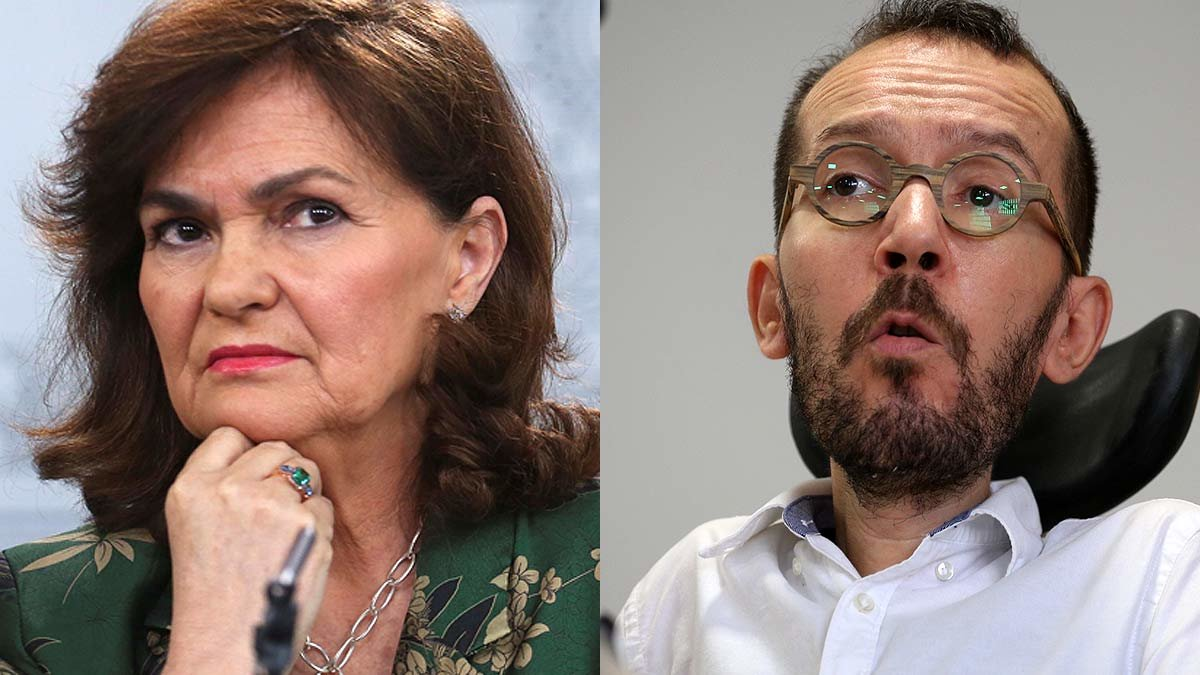 Carmen Calvo y Pablo Echenique.