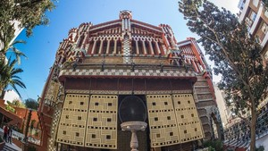 La Casa Vicens de Gaudi rehabilitada y restaurada.