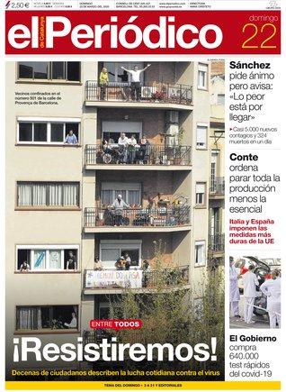 Prensa de hoy: Las portadas de los periódicos del domingo 22 de marzo del 2020