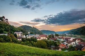 Vista de Sevnica, el bucólico pueblo esloveno donde nació Melania Trump.