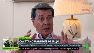 """Cayetano Martínez de Irujo, sobre Pedro Sánchez: """"Me siento identificado porque no han podido con él"""""""