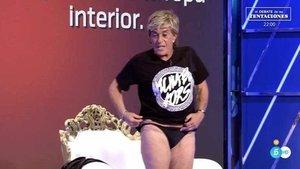 Chelo García Cortés se queda en bragas por 3.000 euros en el estreno del nuevo concurso de 'Sálvame'