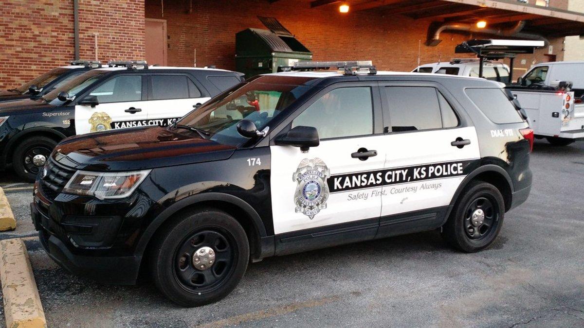 Un coche de la policía de Kansas City.