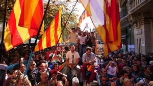 Concentración frente a la Conselleria dEconomia, el pasado 20 de septiembre.