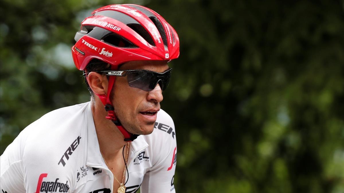 Contador, en el Tour de Francia.