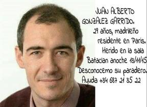 Juan Alberto González Garrido, elespañol desaparecido tras el ataque terrorista en la sala Bataclan.