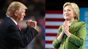 Donald Trump y Hillary Clinton, durante actos electorales.